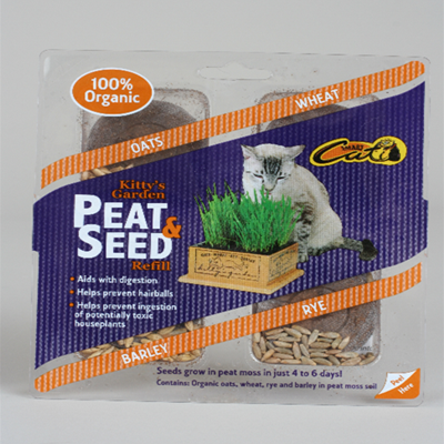 SmartCat Kitty's Garden Peet and Seed Refill