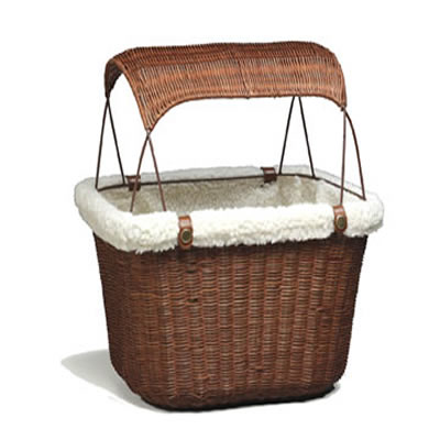 Solvit Wicker Tagalong Bicycle Basket